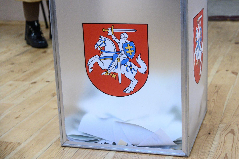 rinkimai, balsavimas, rinkėjai, balsadėžės, balsuoja, rinkimų urna<br>V.Skaraičio nuotr.