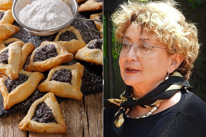 F.Kukliansky ir pati kepa tradicinius aguonomis įdarytus sausainius pagal tradicinį šeimos receptą.<br>G.Pilaičio ir 123rf nuotr.