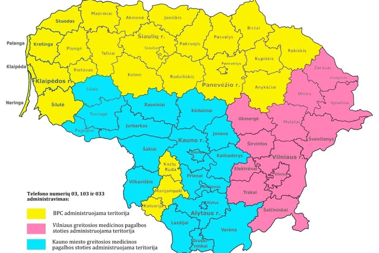 Bendrasis pagalbos centras perima skambučius greitosios medicinos pagalbos tarnybos telefono numeriais Vilniaus ir Utenos apskrityse.<br>BPC nuotr.