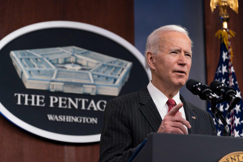 JAV prezidentas Joe Bidenas.<br>AFP/Scanpix nuotr.