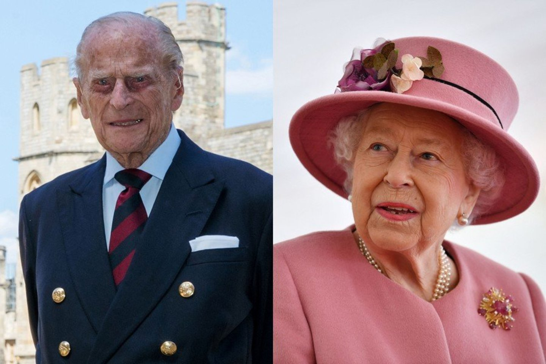 Princas Philipas ir Elizabeth II.<br>LR koliažas.