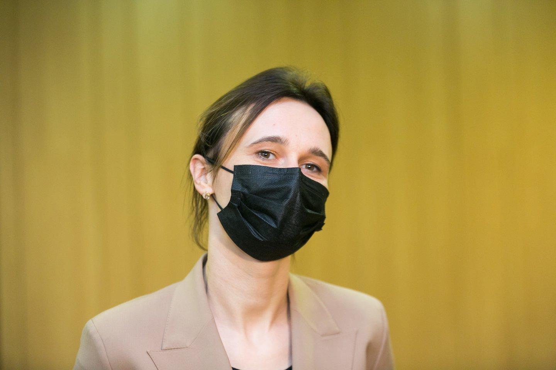 """Paramą šiai """"tautos valiai"""" jau atvirai pareiškė opoziciniai valstiečiai, kuriuos Seimo pirmininkė liberalė V.Čmilytė-Nielsen apkaltino visa tai ir organizavus.<br>T.Bauro nuotr."""
