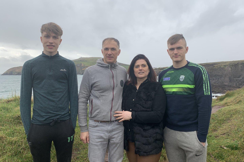 Uosių šeima gyvena Airijos mieste Dinglyje.<br>Nuotr. iš asmeninio albumo