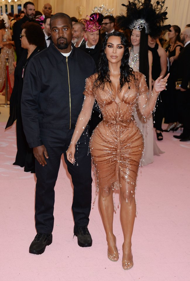 Kanye Westas ir Kim Kardashian 2019-aisiais.<br>Gilbert Flores/Broadimage/Scanpix nuotr.