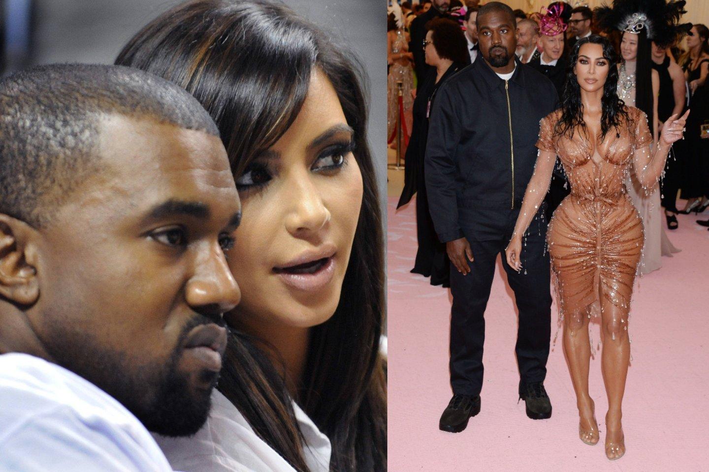 Kanye Westas ir Kim Kardashian.<br>lrytas.lt montažas.