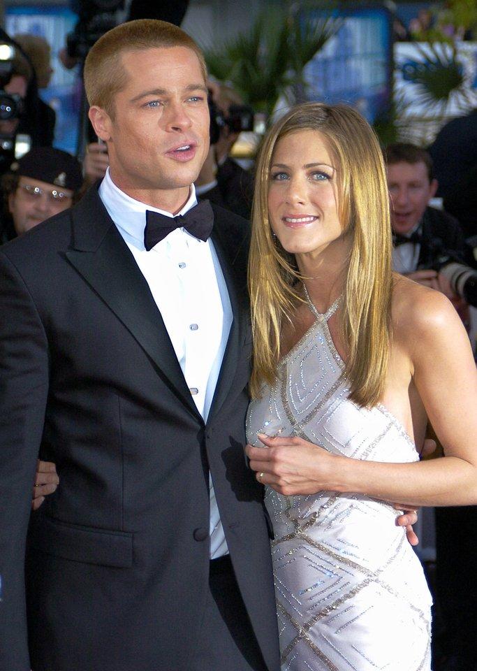 Jennifer Aniston ir Bradas Pittas.<br>AP/ Scanpix nuotr.