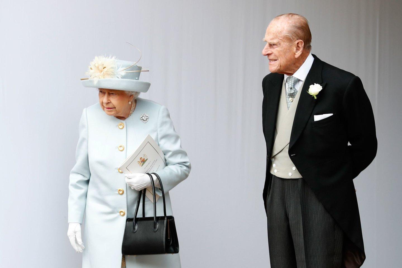 Princas Philipas ir Elizabeth II.<br>Scanpix nuotr.