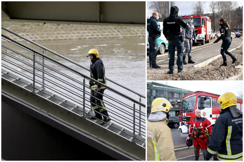 Visos tarnybos Vilniaus centre skubėjo gelbėti merginos.<br>R.Danisevičiaus nuotr.