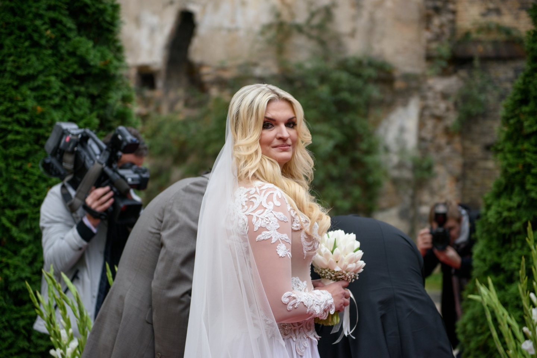 skaivos jesevičiūtės vestuvės, vestuvės, Skaiva Jasevičiūtė, Artūras Kraujalis, santuoka<br>D.Umbraso nuotr.