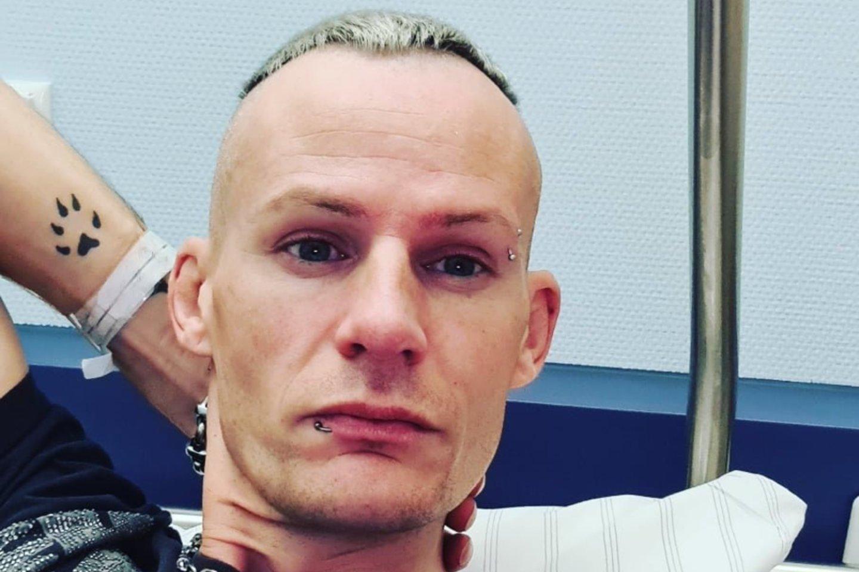 Neseniai Mindaugas gulėjo ligoninėje, kur jam atlikta inkstų operacija.<br>Asmeninio archyvo nuotr.