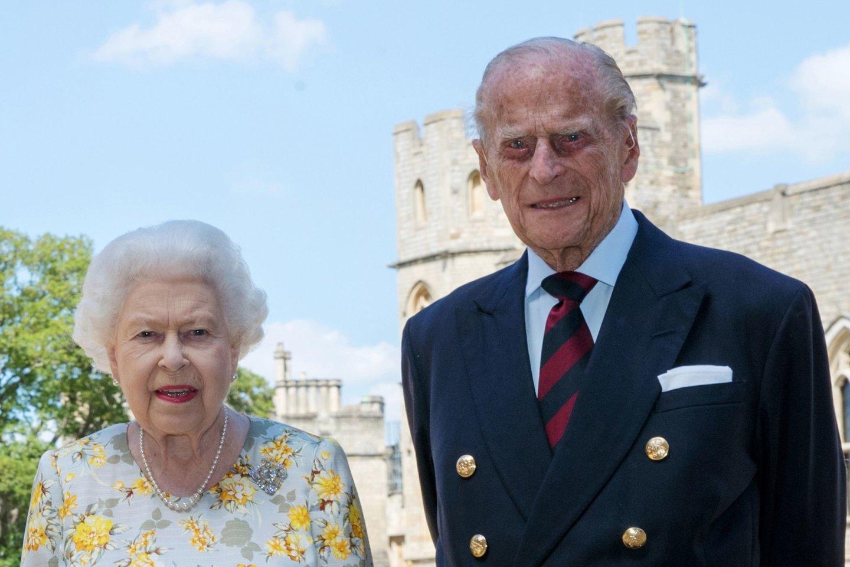 Princas Philipas ir Elizabeth II.<br>Scanpix/AFP nuotr.