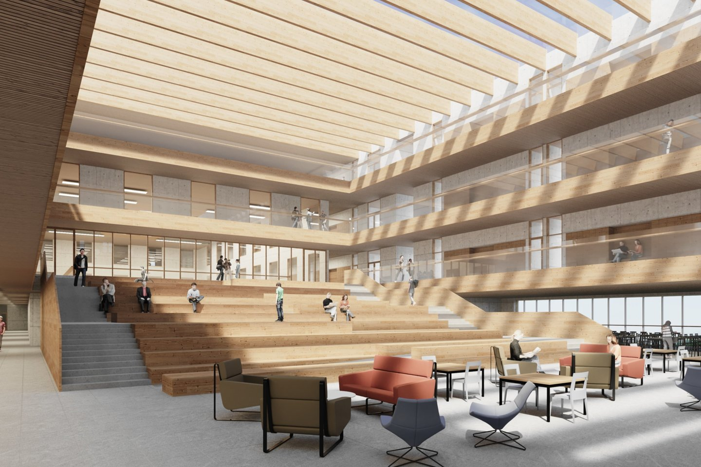 """Savivaldybės įmonė """"Vilniaus vystymo kompanija"""" atrinko Tolminkiemio gimnazijos statybos darbų konkurso laimėtoją.<br>""""DO architects"""" vizual."""