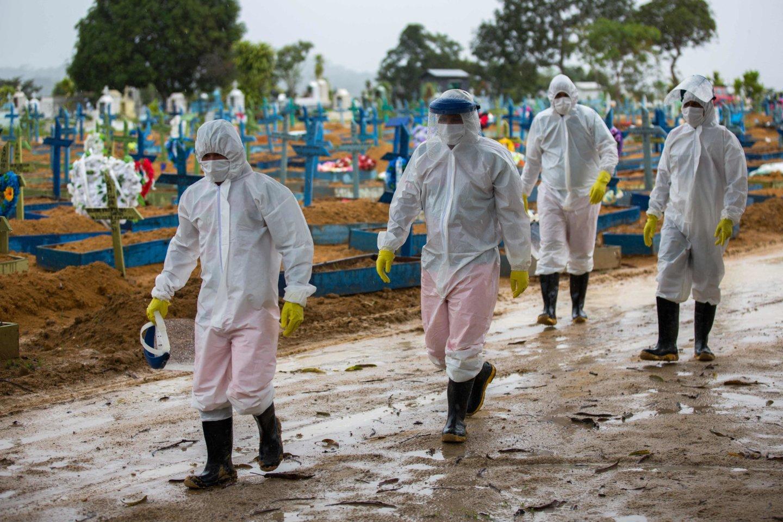 Koronavirusas pasaulyje.<br>AFP/Scanpix nuotr.