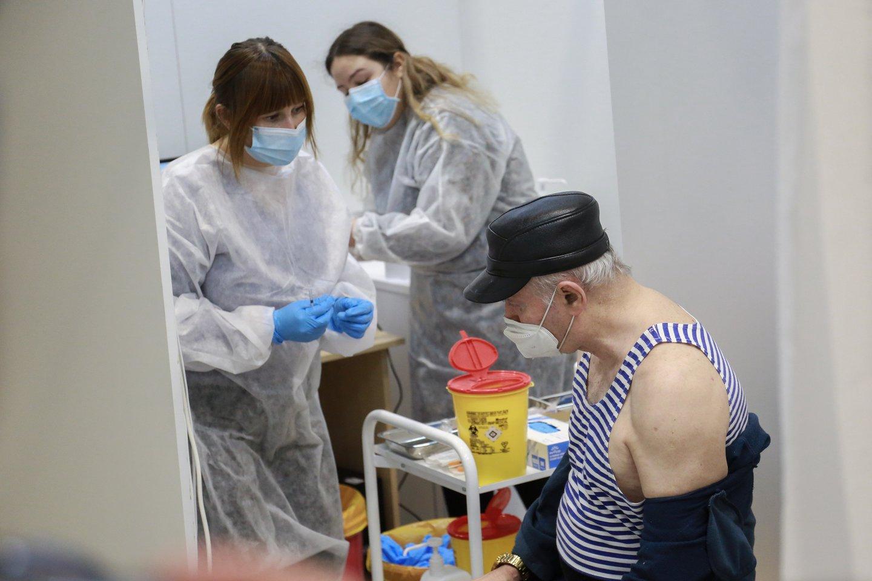 Vakcinavimo centras, Kauno ledo rūmai, korona, koronavirusas, pandemija<br>G.Bitvinsko asociatyvinė nuotr.