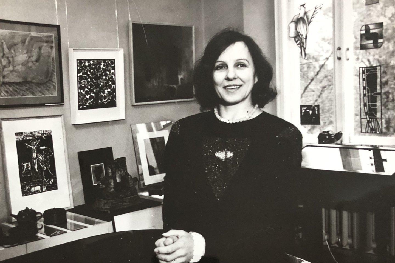 """Nida Rutkienė """"Vartuose"""" pirmaisiais galerijos veiklos metais.<br>Asmeninio archyvo nuotr."""