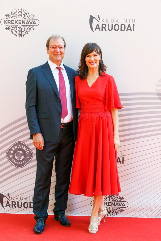 Viktoras Uspaskich ir Jolanta Blažytė.<br>T.Bauro nuotr.