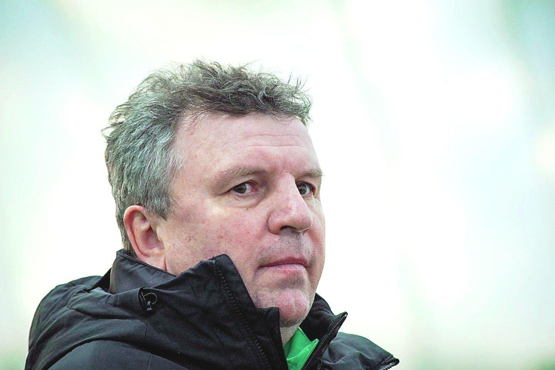 """Vilniaus """"Žalgirio"""" vyr. treneris A.Čeburinas.<br>V.Ščiavinsko nuotr."""