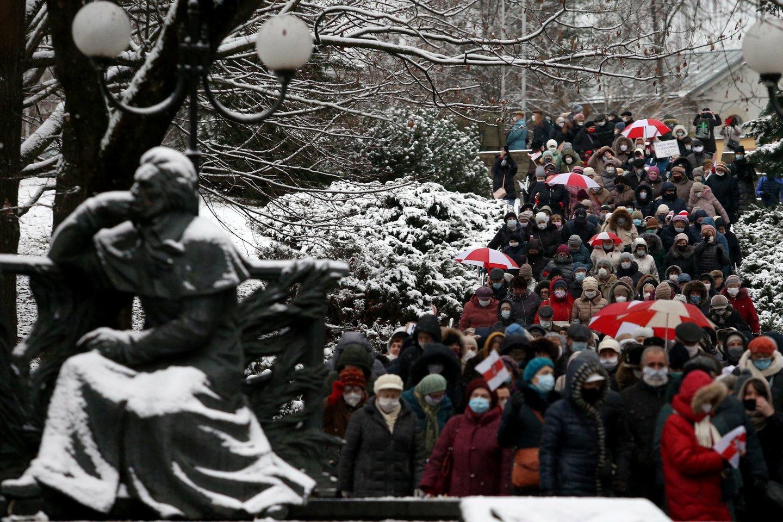 Protestai Baltarusijoje.<br>AFP/Scanpix nuotr.