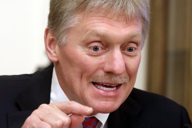 Kremliaus atstovas Dmitrijus Peskovas.<br>TASS/Scanpix nuotr.