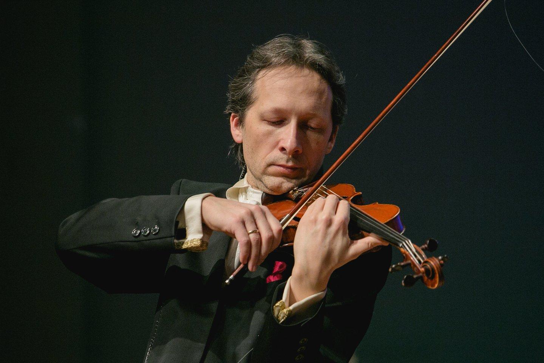 Smuikininkas Vilhelmas Čepinskis.<br>Organizatorių nuotr.