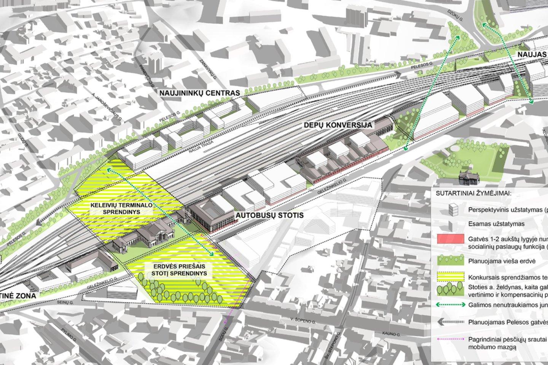 Vilniui ruošiantis iš esmės pertvarkyti Stoties rajoną, konkrečių idėjų laukiama iš architektų.<br>Vizual.