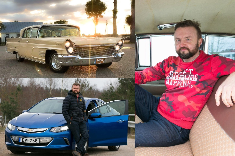 Važiuojant amerikietišku retro automobiliu tau niekada niekas nepavydi, sako S.Stavickis-Stano.<br>Lrytas.lt fotomontažas.
