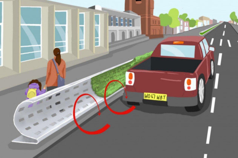Reikėtų apsvarstyti idėją šalia gatvių važiuojamosios dalies montuoti riestus barjerus.<br>ICL nuotr.