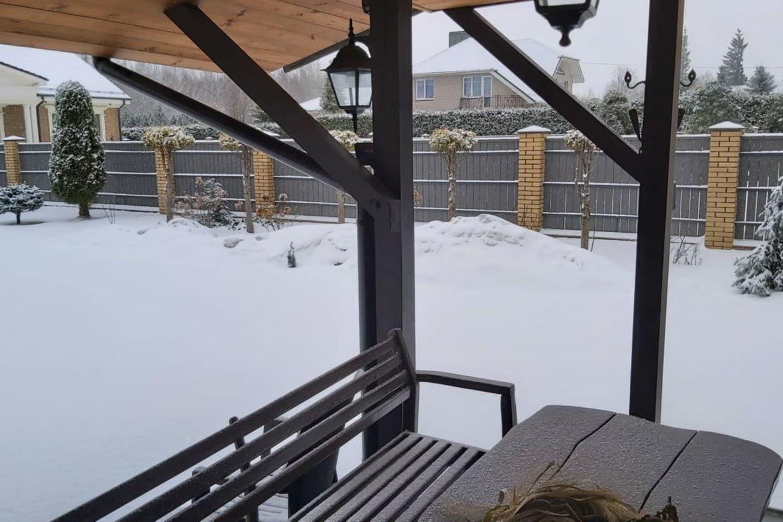 Sniegas Mažeikiuose.<br>Skaitytojo Antano nuotr.