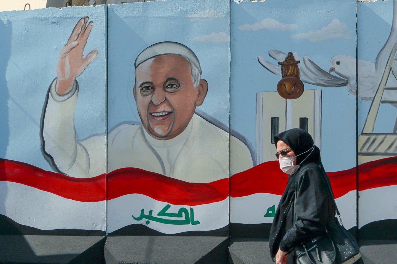 Popiežiaus Pranciškaus istorinis vizitas Irake.<br>AP/Scanpix nuotr.