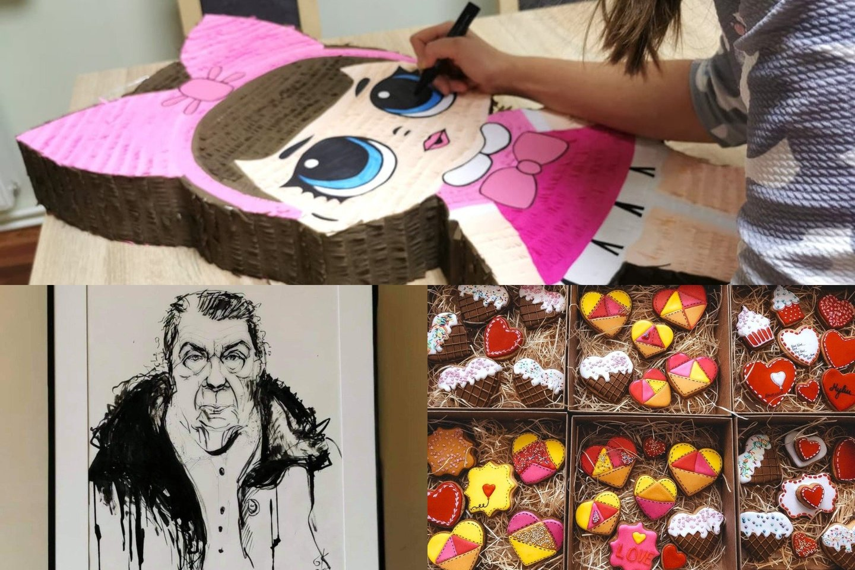 Karantino metu laisvo laiko atradusios šilutiškės prisiminė tapybą, sausainių dekoravimą, pradėjo gaminti dėžutes dovanoms.<br>Lrytas.lt fotomontažas