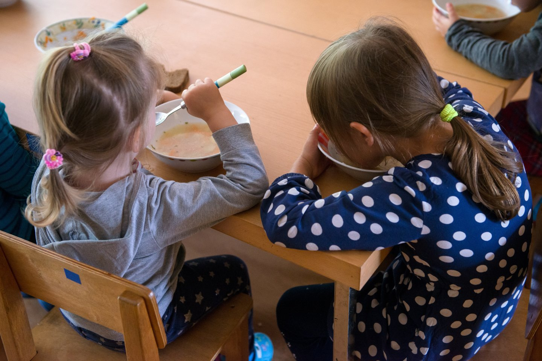 Vienam vaikui per mėnesį skiriama 20 arba 17 eurų parama, jei įstaigos įsipareigoja per visą paramos laikotarpį vaikams maitinti įsigyti ne mažiau kaip 60 arba 50 proc. pagal kokybės sistemas pagamintų produktų.<br>J.Stacevičiaus nuotr.