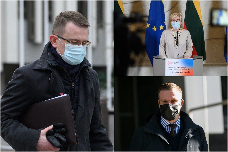 Vyriausybė nesutarė dėl įstatymo pataisų, kurios suteiktų galimybę Ministrų kabinetui įtvirtinti pareigą atlikti koronaviruso testus valstybės lėšomis.<br>lrytas.lt koliažas