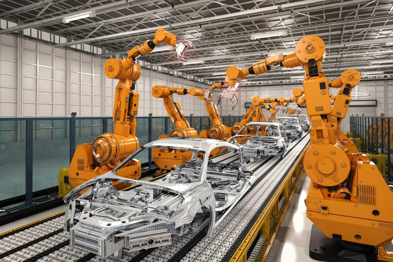 Pasaulyje vidutiniškai 10 tūkst. darbuotojų tenkantis robotų skaičius siekia 113, labiausiai robotų tankumu išsiskiriančioje Vakarų Europoje – net 225 robotai.<br>123rf nuotr.