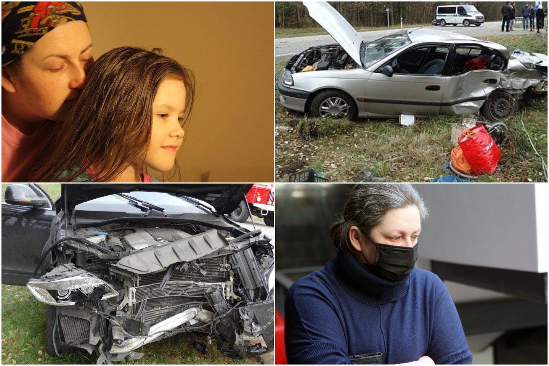 Po avarijos pareigūnai apkaltino ne įtakingo verslininko sūnų, o dukros netekusią alytiškę J.Jankauskienę.<br>Lrytas.lt koliažas