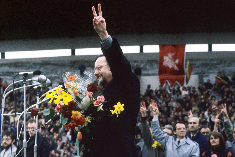 1990 balandžio 7 d., Vingio parkas.<br>Romualdo Požerskio nuotr.