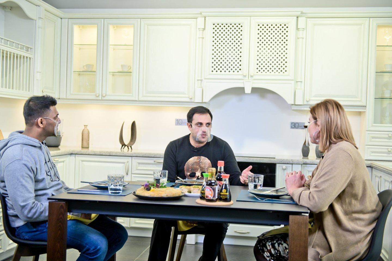 "Laidos ""Virtuvės istorijos"" filmavimo akimirka.<br>tomasfoto.lt nuotr."