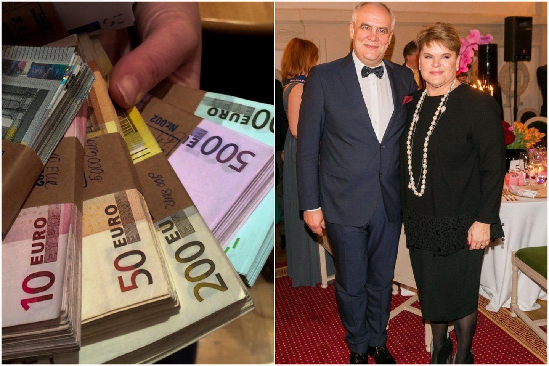 Byloje dėl galimai neapskaitytų maždaug milijono eurų Vaisingumo klinikoje, A.Brazauskaitė-Usonienei yra pripažinta specialiąja liudytoja, o jos vyrui A.Usoniui pareikšti įtarimai.<br>Lrytas.lt koliažas