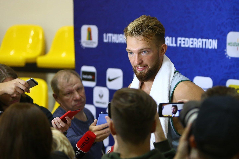 Paaiškėjo, kurioje šalyje Lietuvos vyrų krepšinio rinktinė pradės 2022 m. Europos čempionato kovas.<br>G.Šiupario nuotr.