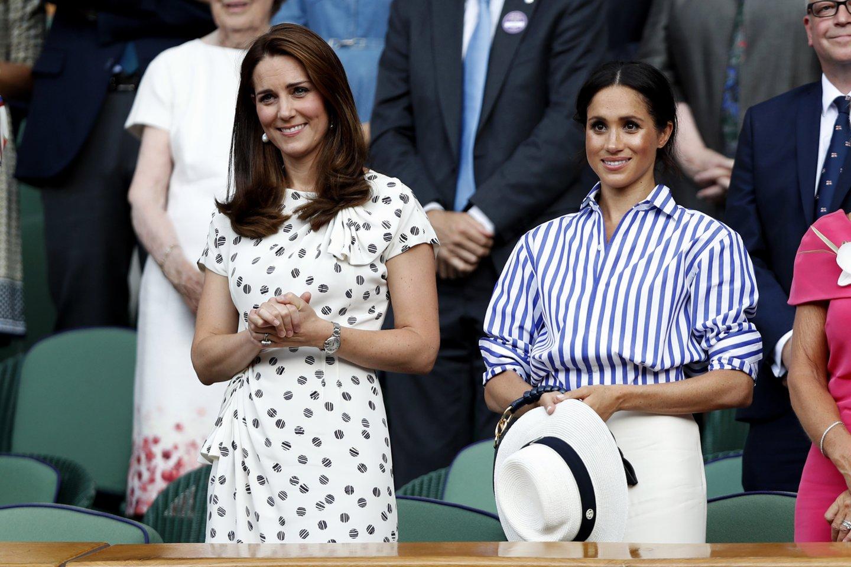 Catherine Middleton ir Meghan Markle.<br>Scanpix nuotr.