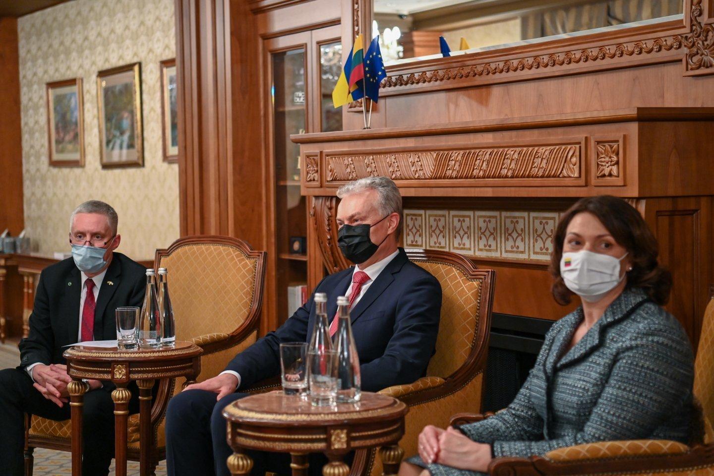 Gitano Nausėdos vizito Ukrainoje akimirkos.<br>R. Dačkaus nuotr.