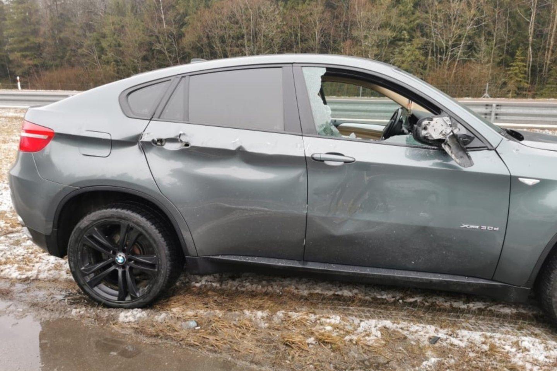 Kelionė į Vilnių besilaukiančiai lietuviškajai Kim Kardashian baigėsi avarija.<br>Asmeninio archyvo nuotr.