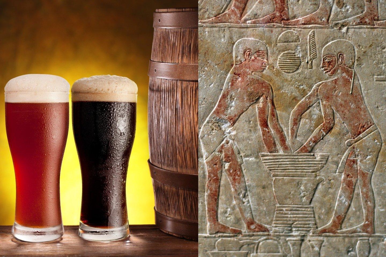 Nors senovės Egipto aluje dar daug ko trūko, tačiau vargu galima sakyti, kad toks alus buvo prastesnis, nei gaminamas šiandien.<br>123rf / AKG/ Scanpix nuotr.
