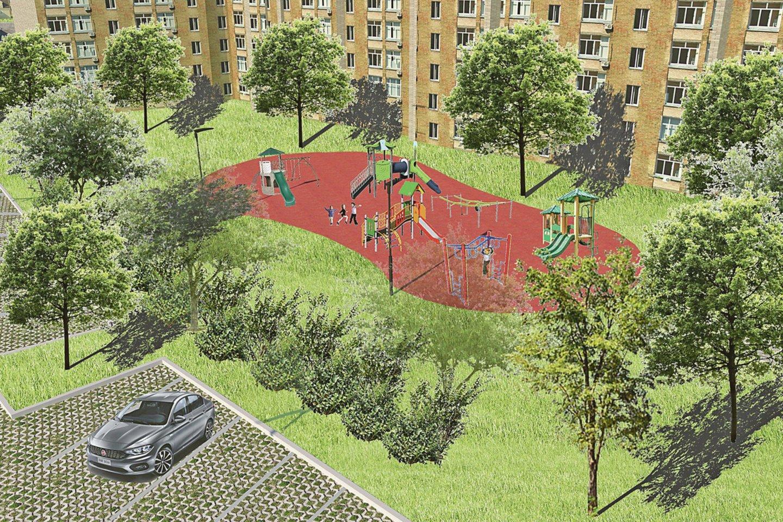 Keliose vietose arčiau namų planuojama įrengti vaikams skirtas žaidimo aikšteles.
