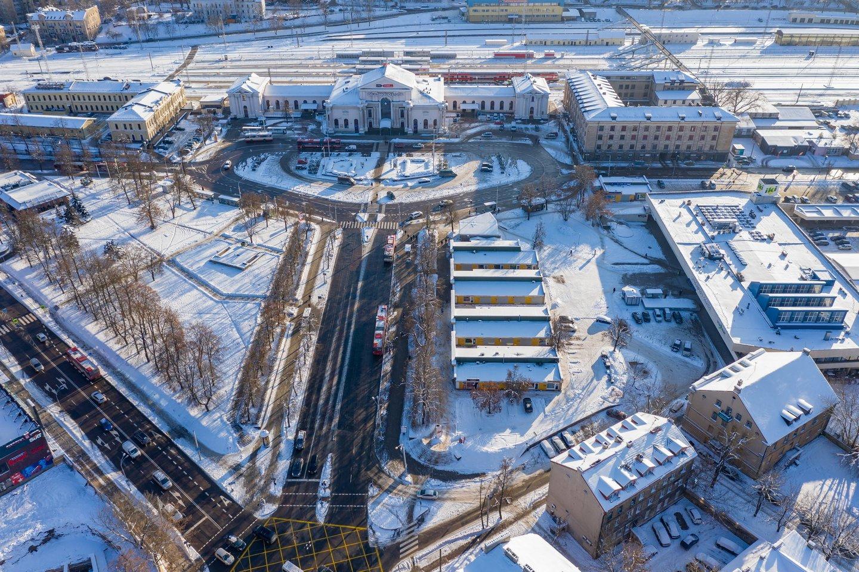 Vilniaus stoties rajoną tikimasi pertvarkyti iki 2030-ųjų.<br>S.Žiūros nuotr.