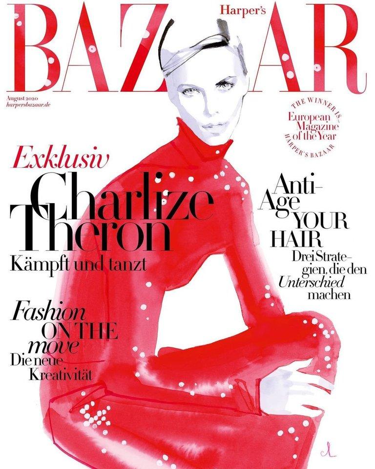 "Marco Antoine'o Coulono iliustracija žurnalui ""Harper's Bazaar""."