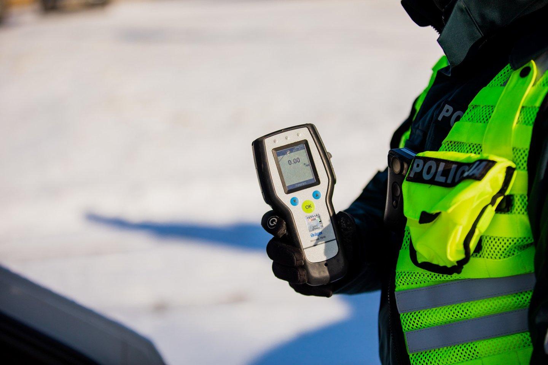 Per praėjusią savaitę Klaipėdos apskrities Kelių policijos pareigūnai išaiškino penkis neblaivius vairuotojus.<br>Pranešėjų spaudai nuotr.