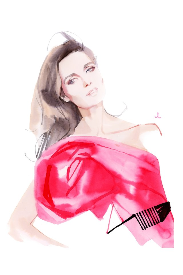 """Naujausią žurnalo """"Stilius plius"""" numerį papuošė Asta Valentaitė, kurios portretą sukūrė prancūzų menininkas Marcas Antoine Coulonas.<br>Marco Antoine Coulono iliustracija, Erikos Stanevičiūtės maketas."""