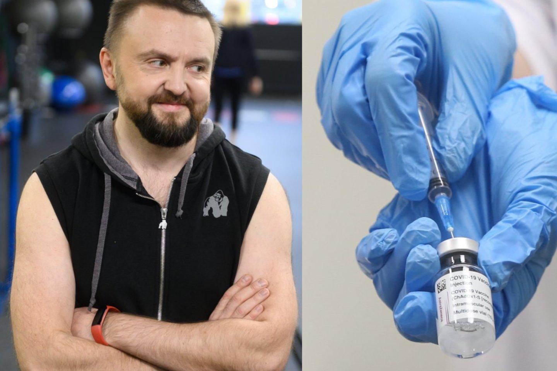 Stano išsakė nuomonę apie šalies vadovų vakcinavimą.<br>LR koliažas.