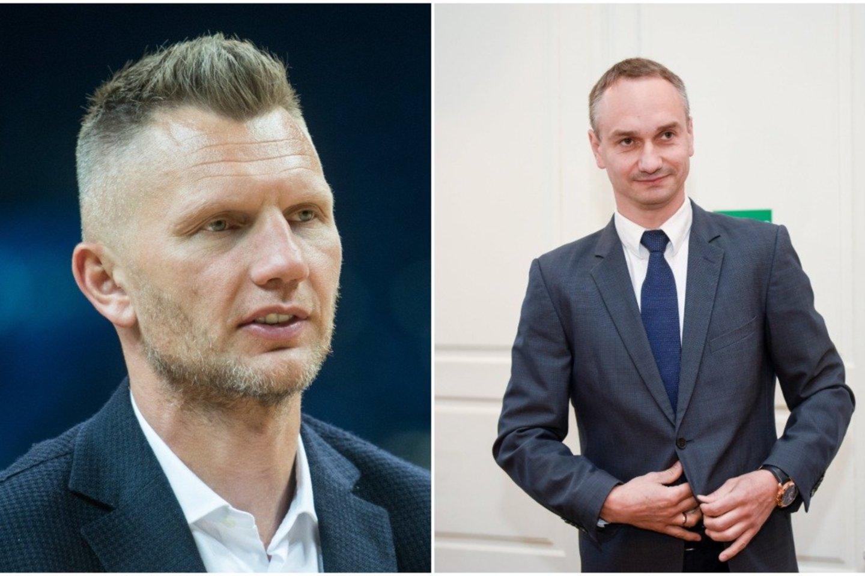 M. Balčiūnas neigia kalbas: kvietimo dalvauti LKF prezidento rinkimuose iš R. Kaukėno nėra gavęs.<br>lrytas.lt montažas.