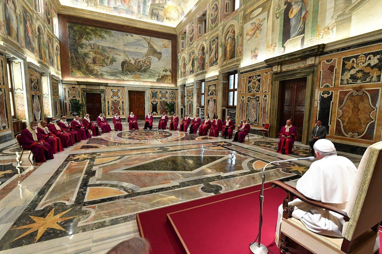Vatikanas: dėl pandemijos mažinamos kardinolų ir tarnautojų algos.<br>SIPA/Scanpix nuotr.